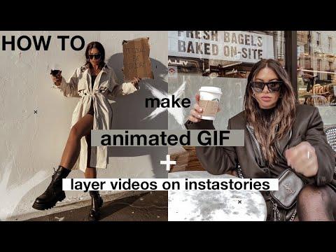 How to make animated GIFs + Layer videos on instastories! || tashietinks #tashiestipstuesday