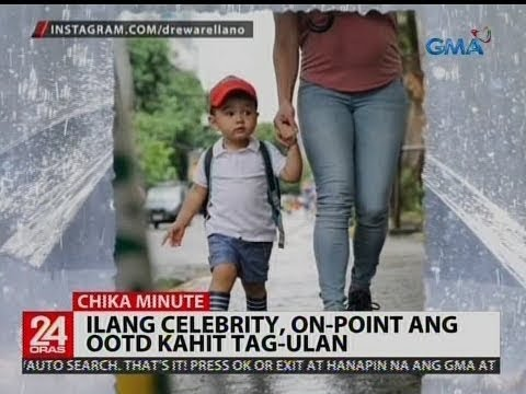 Ilang celebrity, on-point ang OOTD kahit tag-ulan