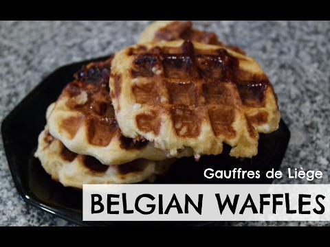 BELGIAN WAFFLES RECIPE | GAUFFRES DE LIÈGE | EM'S BAKING