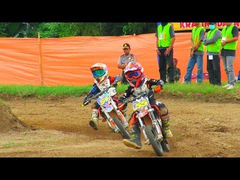 Serunya Anak Kecil Balapan Motor cross (Motocross 2016 Championship) di Sirkuit Sleman Yogyakarta