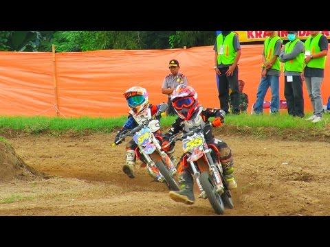 Stats Serunya Anak Kecil Balapan Motor Cross Motocross 2017 Championship Di Sirkuit Sleman Yogyakarta