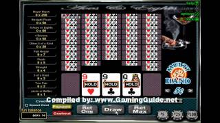 Aces and Eights 52 Hand Video Poker