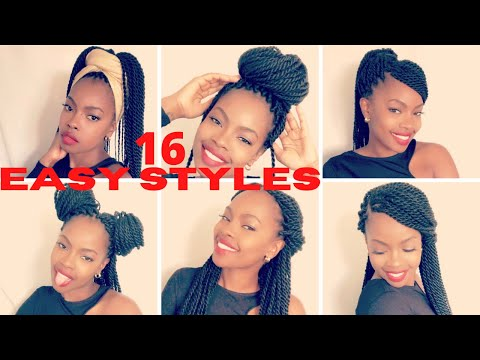 16-ways:-how-to-style-braids-|-long-senegalese-twists-|-braids-style-tutorial-|-*easy*