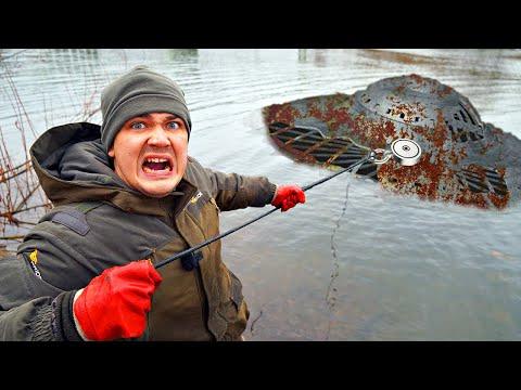 Подняли со дна гигантскую жуткую находку, где затонула летающая тарелка во время магнитной рыбалки