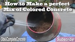 How to Make Colored Concrete Hand Mixing