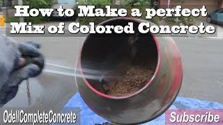 Gambar cover How to Make Colored Concrete Hand Mixing