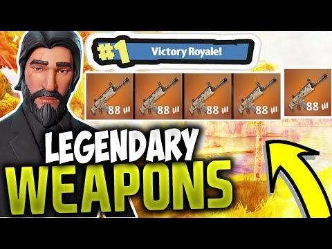 LEGENDARY WEAPONS ONLY!! #1 VICTORY ROYALE | FORTNITE BATTLE ROYALE