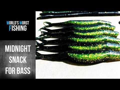 POPULAR COLORS: MIDNIGHT CHARTREUSE!  Making Soft Plastic Lures.