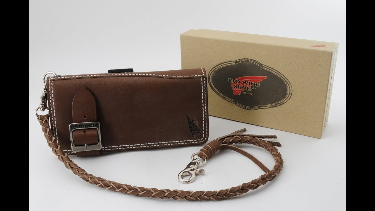 New RED WING 960-2009 Olive Boots Leather Long 6 Pockets Wallet ...