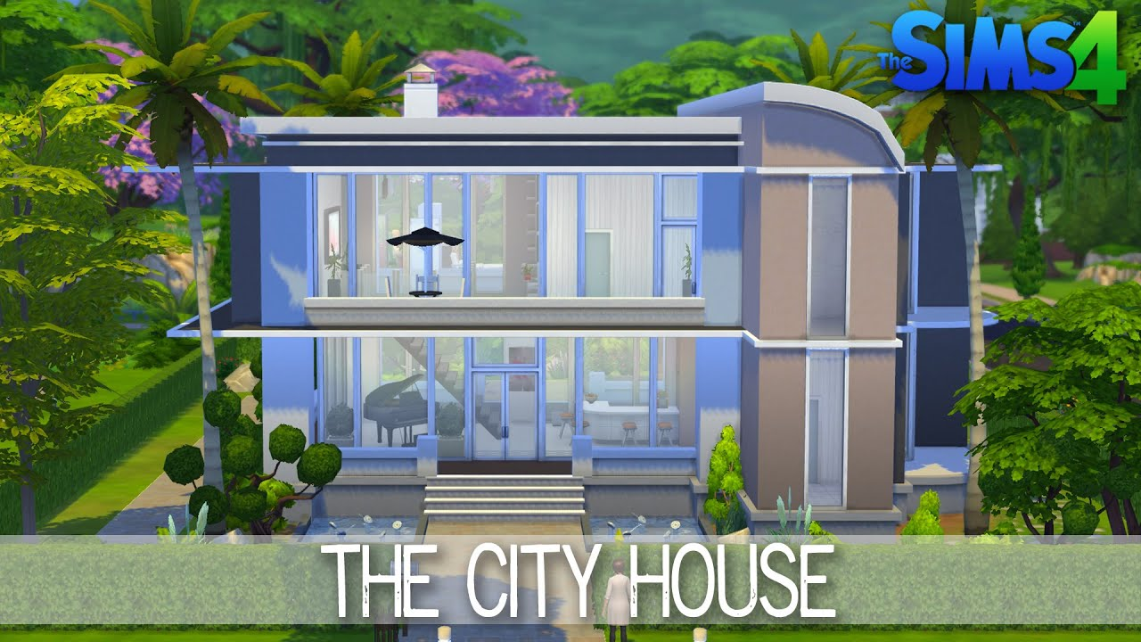 The sims 4 house building the city house speed build for Build your house
