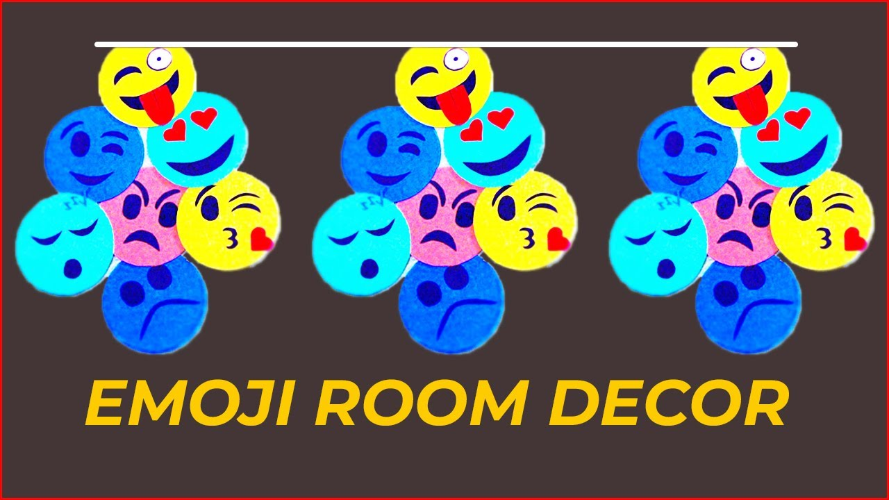 Smiley Emoji Room Decor | How To decorate your room with ...
