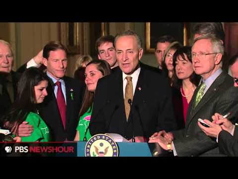 Senator Harry Reid Reacts to the Defeat of the Manchin-Toomey Gun Amendment In the Senate