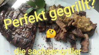 Rindersteak - mit Pfeffersoße vom Plett Grill - die sachsengriller