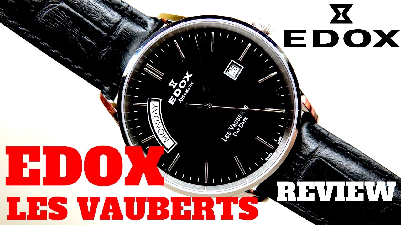 4K) EDOX LES VAUBERTS DAY DATE MEN S WATCH REVIEW MODEL  83007-3-NIN ... 924a5afabed