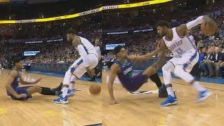 Paul George Got Jeremy Lamb Leaning! Westbrook Poster! 2017-18 Season