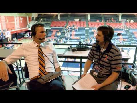 @IlliniVBall 8/26/16 vs ARKANSAS Kevin Hambly Post-Game