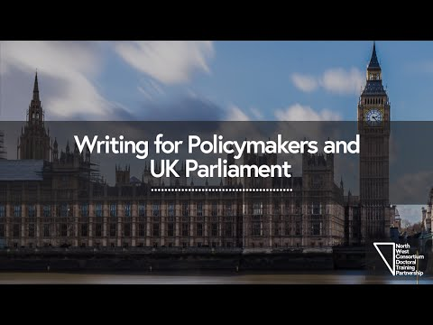 Asking the experts - Writing for Policymakers and UK Parliament