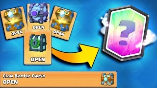 """CLAN BATTLE CHEST """"10 OF 10"""" OPENING! Clash Royale New Custom Chest Opening!"""