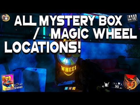All Mystery Box / Magic Wheel Locations - Call Of Duty Infinite Warfare Zombies In Spaceland
