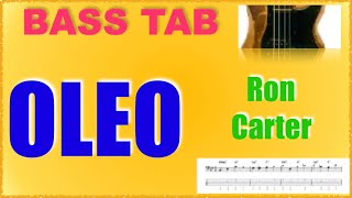 Oleo/ron carter[ walking bass cover with tab]bpm120