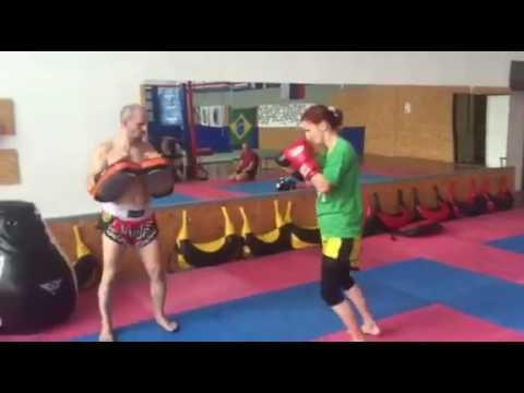 Pads work HURON gym Bratislava real muay thai