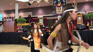 HH Sakya Trichen Rinpoche Cultural Exchange Santa Fe Indian School - Butterfly Dance Clip 4