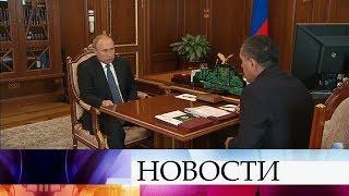 Владимир Путин встретился с главой Ингушетии Юнус-Беком Евкуровым.