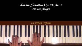 Kuhlau Sonatina Op. 55, No.1 1st mvt Piano Tutorial