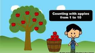 Number Sense Digital Activities   Counting with apple 1 - 10 Free download