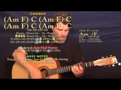 It Don't Hurt Like It Used To (Billy Currington) Guitar Lesson Chord Chart - Capo 3rd