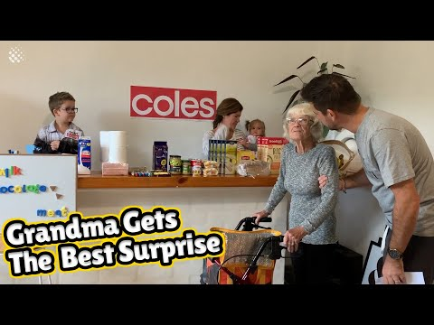 Family create supermarket at home for 87-year-old grandmother with dementia.
