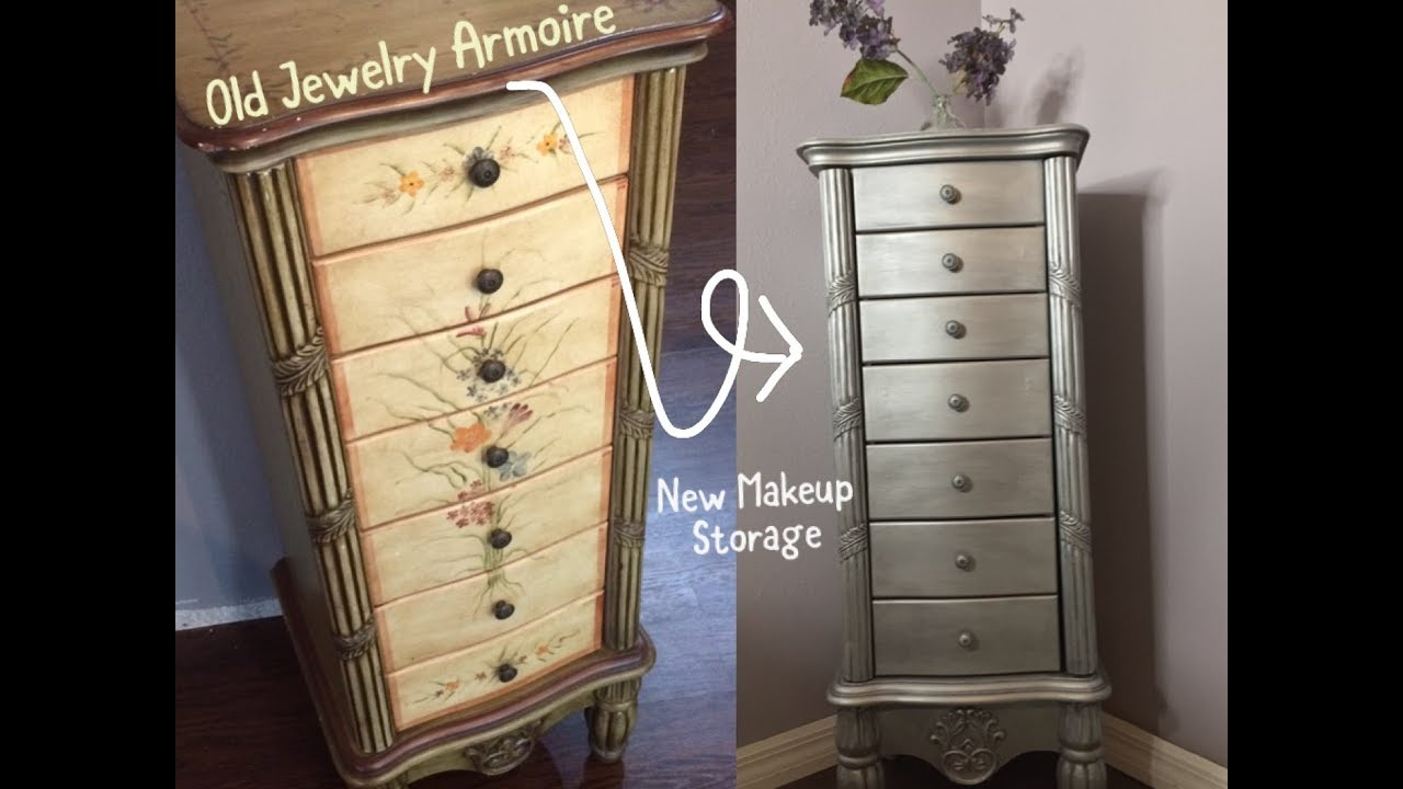 Jewelry Case Makeover New Makeup Storage And Vanity Youtube
