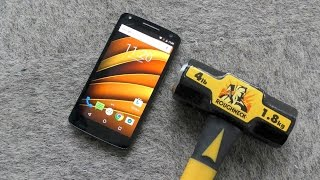 Moto X Force (Droid Turbo 2) - Hammer Drop Test (4K)