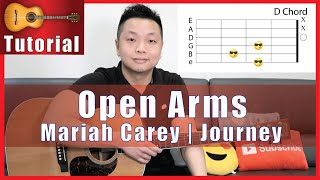 Open Arms Guitar Tutorial - Mariah Carey, Journey