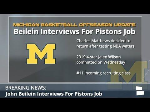 NBA Rumors: Michigan Coach John Beilein Interviewed For Pistons Head Coaching Job
