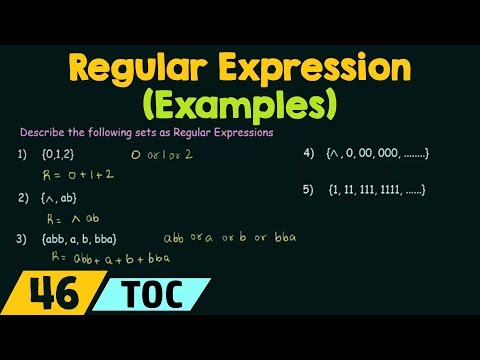 Regular Expression - Examples