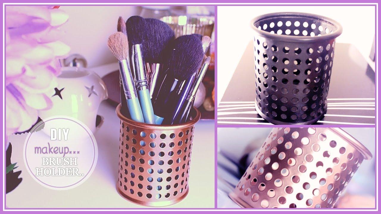 Diy Makeup Brush Holder Turn Old Into New Stefy