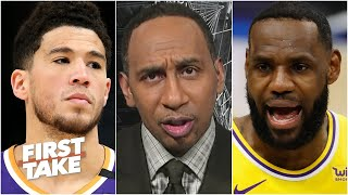 Stephen A. reacts to the Suns defeating the Lakers despite Devin Booker's ejection | First Take