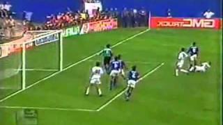 Italia 2 - 1 España Cuartos de final 1994 - Codazo a Luis Enrique