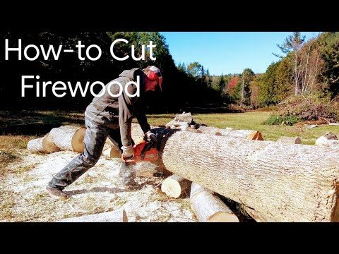 Husqvarna 450 Chainsaw Review - How to Cut Firewood