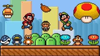 SMBX 1.4.3 - My Custom GFX | Mario & Luigi REMASTERED.   (2 Players)