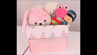 Pratik dekoratif kutu, oyuncak sepeti, çamaşırlık, yün kutusu yapımı. Decorative box