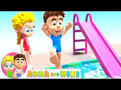 Anna and Niki at the Swimming Pool - Motivational Story for Kids
