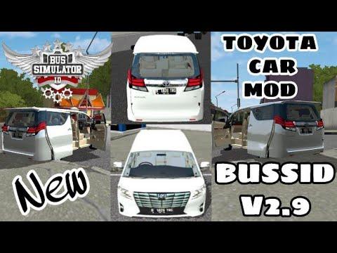 Bussid V2 9|New Toyota car Mod For Bus Simulator Indonesia|Alphard Car Mod  For Bussd|