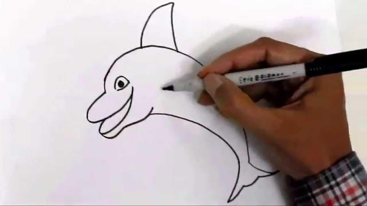 Copy Of How To Draw A Dolphin In Easy Steps For Children Beginners