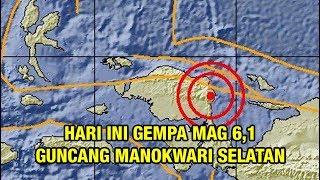 Hari Ini Gempa Mag 6,1 Guncang Manokwari Selatan, Warga Panik Berhamburan Keluar