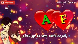 A & F Letter Whatsapp status video   New Whatsapp status video