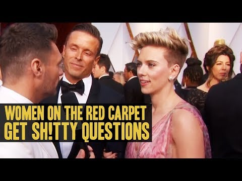 Women On The Red Carpet Get Sh!tty Questions - Today's Topic (Scarlett Johansson, Mindy Kaling)