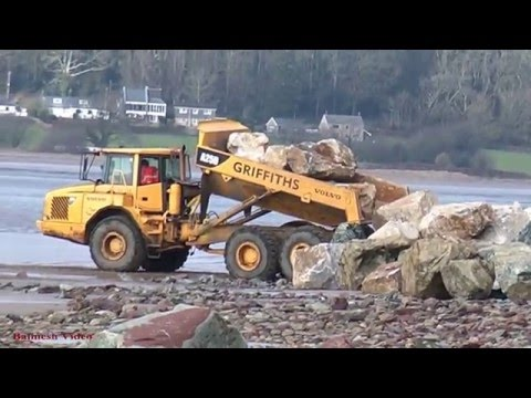 Ferryside Sea Defence Works - The Sharp End!