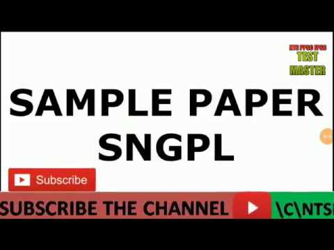 Sample Paper SNGPL Sui Gas Engineer Chemical , HR Officer, Executive Secretary & Law Grade II-III